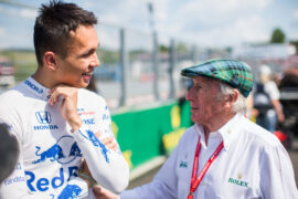 Stewart denies 'knocking down' Hamilton