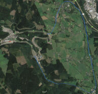 The old and new Spa-Francorchamps circuit layout