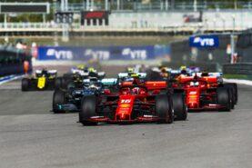 Start of the 2019 Russian F1 GP