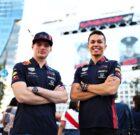 Verstappen & Albon talking Bull