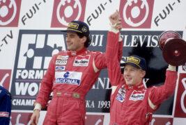 Ayrton Senna and Mika Hakkinen (1993 Japan)