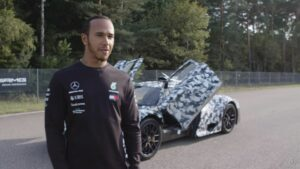Hamilton's First Look Mercedes Project ONE on Track!