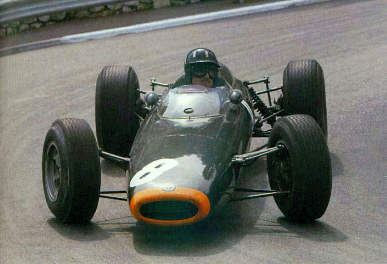Graham HIll driving the BRM P261 at Monaco (1964)