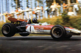 Graham HIll driving the Lotus 01 at the Nordschleife in Germany (1969)