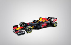 Red Bull RB16 lef front view