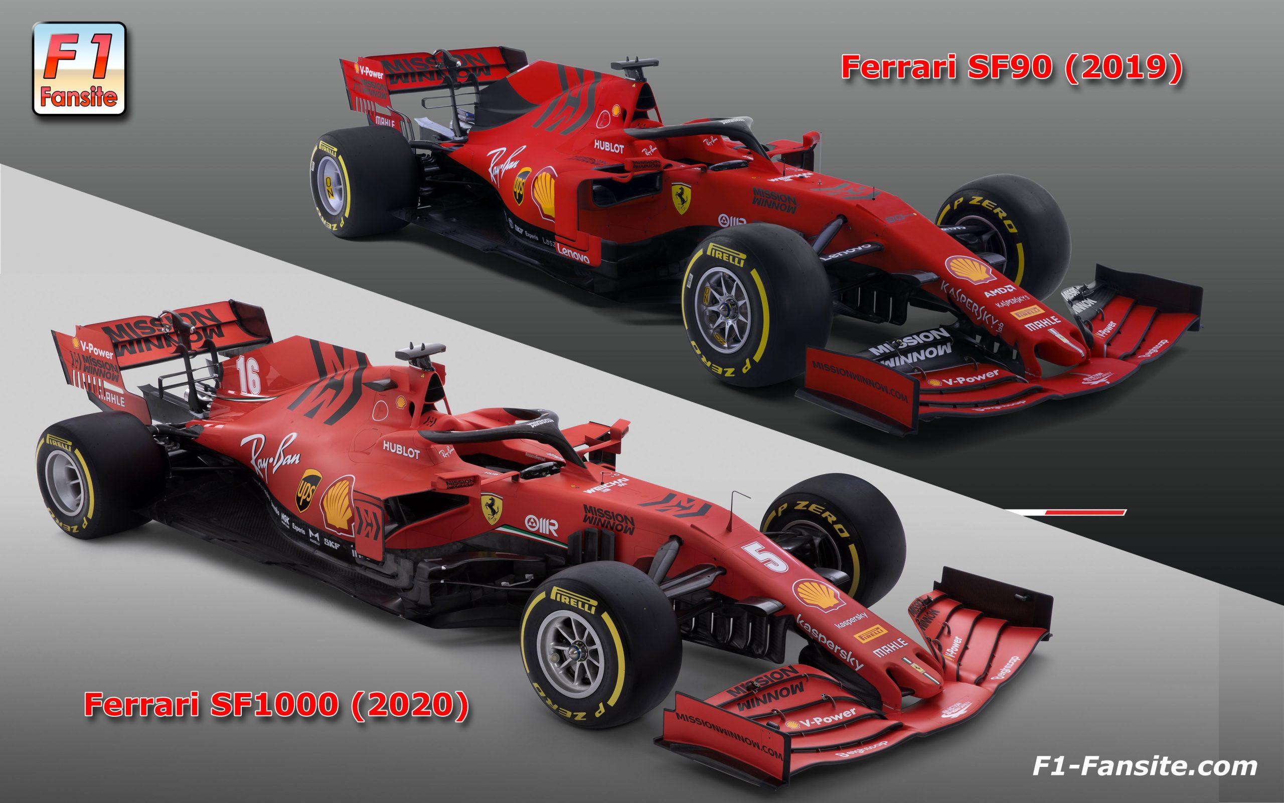 Ferrari-SF90-VS-SF1000-front-right-view-