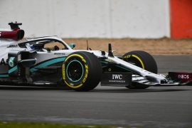 Mercedes W11 first laps on Silverstone