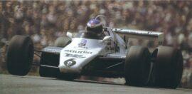 Keke Rosberg driving the Williams FW07 in Austria (1982)