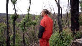 Hamilton visits bushfire hit area in Australia