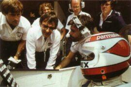 Nelson Piquet and Bernie Ecclestone in Spain (1979)