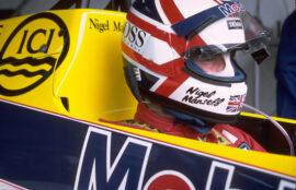 Nigel Mansell, Williams Honda FW10, 1985 Brazilian GP
