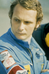 Last picture of Niki Lauda before his accident at the Nurburgring when driving for Ferrari (1976)
