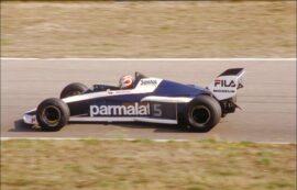 Nelson Piquet driving the 1983 Brabham BMW