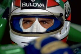 Nelson Piquet. testing the Benetton Ford Test, (1990).