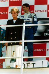 Race winner Damon Hill (GBR) Williams was joined on the podium by HRH Diana, Princess of Wales. British Grand Prix, Silverstone, 10 July 1994.