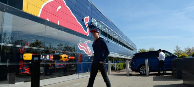 Coulthard & Webber sneak into the Red Bull Factory