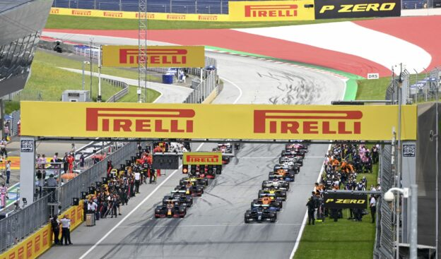 F1 Starting Grid 2021 Styrian Grand Prix Race at Red Bull Ring