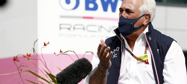 In the pit lane - Lawrence Stroll gets very angry