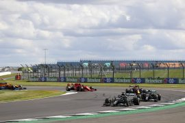 Climate change protesters arrested during British GP