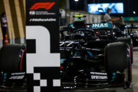 F1 Starting Grid 2020 Sakhir Grand Prix Race in the desert