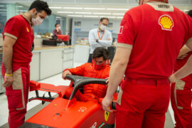 Sainz heads to Italy for his first Ferrari test