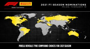 Pirelli reveals F1 tyre compound choices for current season