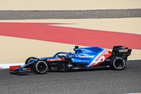 Alonso says the new Alpine is a little slow
