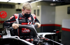Mick Schumacher's seat fitting at the Haas F1 team factory