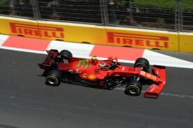 2021 Azerbaijan GP Ferrari Race debrief video