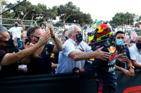 Pressurized Perez does the job for Red Bull Racing