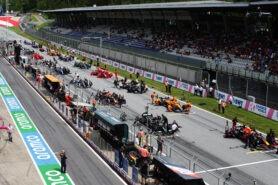 F1 Starting Grid 2021 Austrian Grand Prix Race at Red Bull Ring