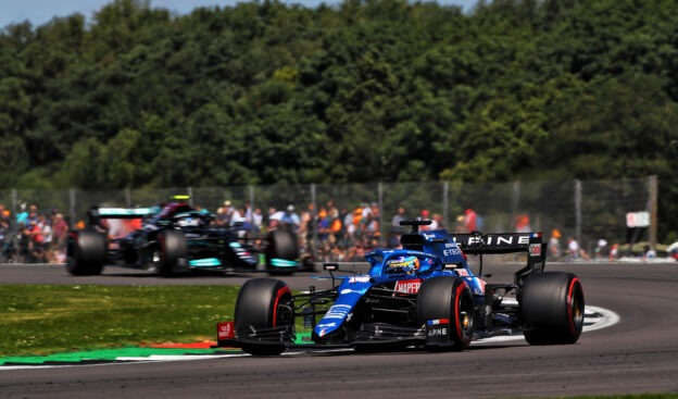 Ocon back up to speed with new Alpine chassis
